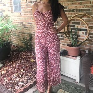 Reformation Yvonne Barbecue Jumpsuit 2 NWT